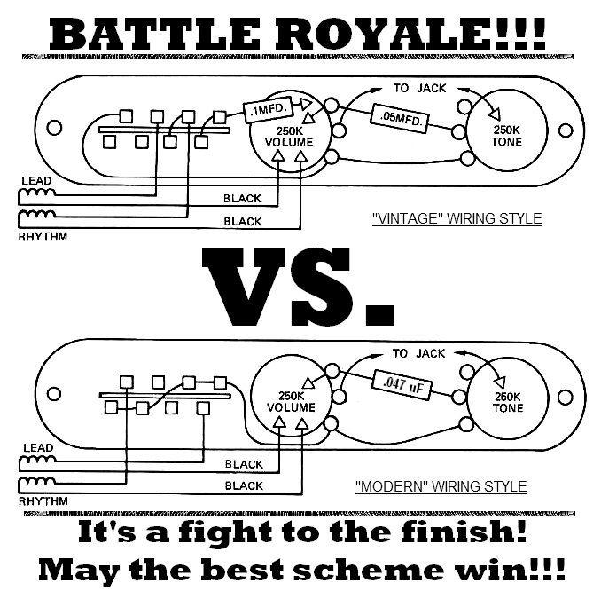 Tele Wiring Battle Royale – Vintage VS Modern | Lollar ... on