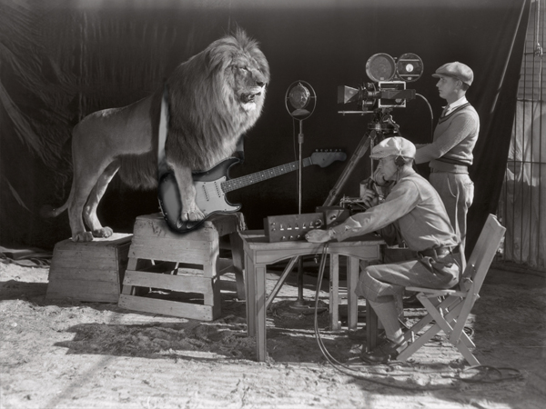 "Engineer: ""That one was pretty good too, but I think we can get better, let's try another take? 'Mane Event' guitar solo, take 43...""  Lion: ""I think we should take a lunch break, you look delicious... I MEAN HUNGRY... you look HUNGRY!""  Engineer: ""I think we got everything we need. That's a wrap, everyone! Let's call this one done!"""
