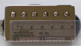 The Fender spaced Lollar Imperial humbucker has a pole spacing of 53mm.